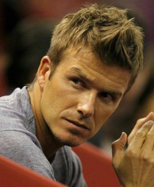 Beckham's short Faux Hawk