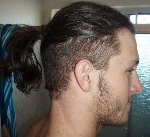 Ponytail with Fade on Sides