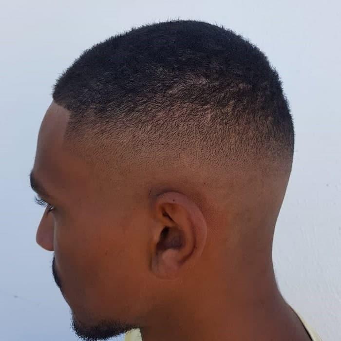 Black Man With High Drop Fade