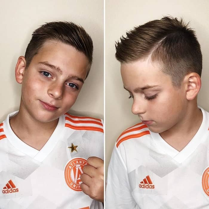 Comb Over Haircut for 8 Years Old Boys