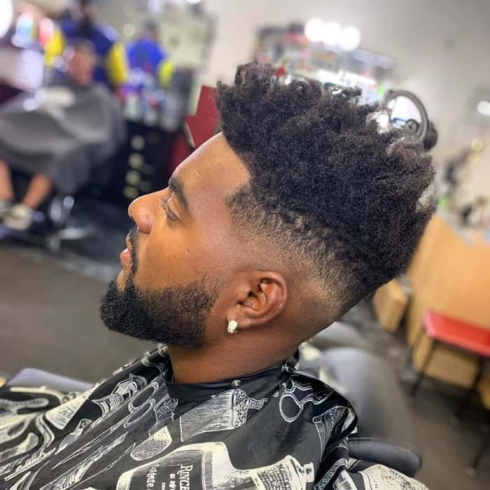 Medium Taper Fade for Black Guys