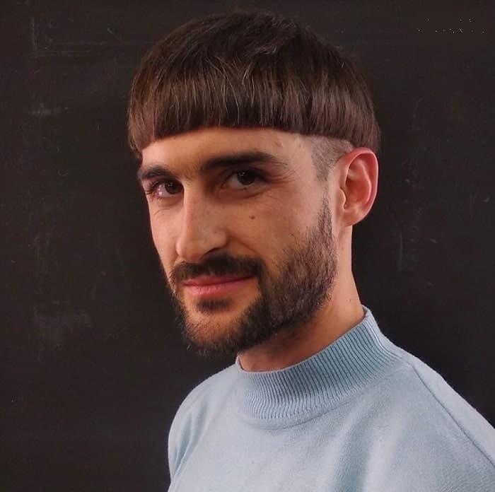 Mushroom Cap Haircut for Men