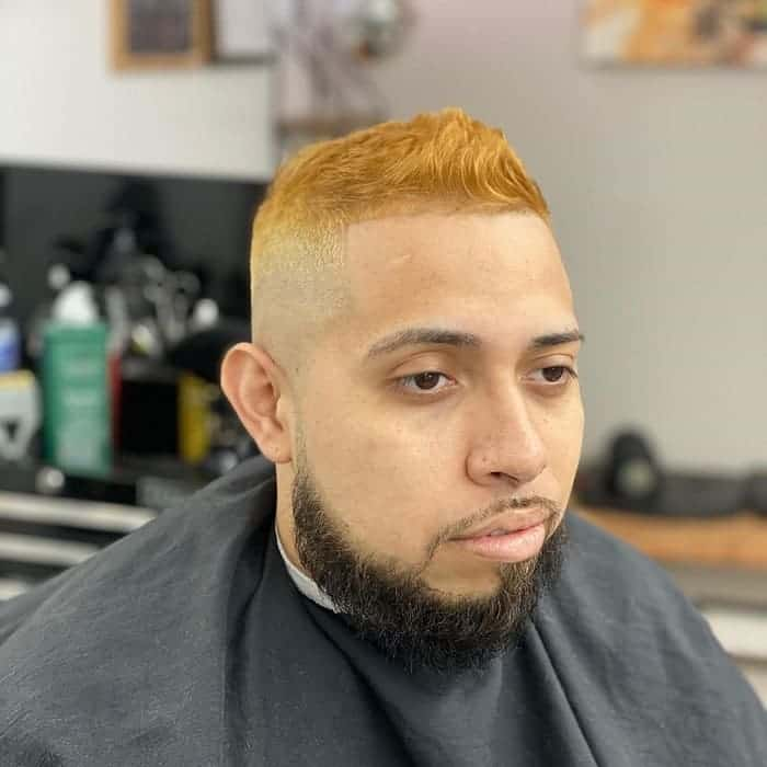 White Guy with Line Up Haircut