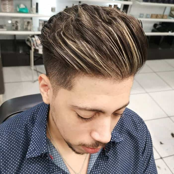 Brown Hair with Blonde Highlights for Men