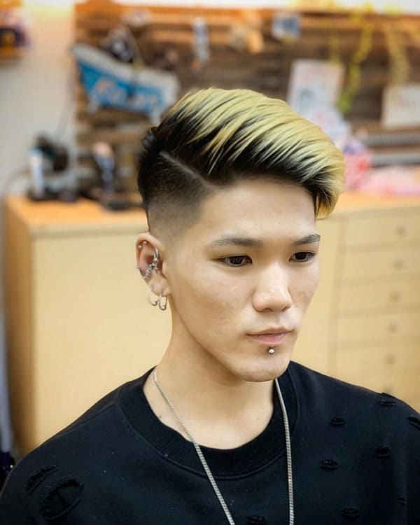 Drop Fade on Parted Hairstyle