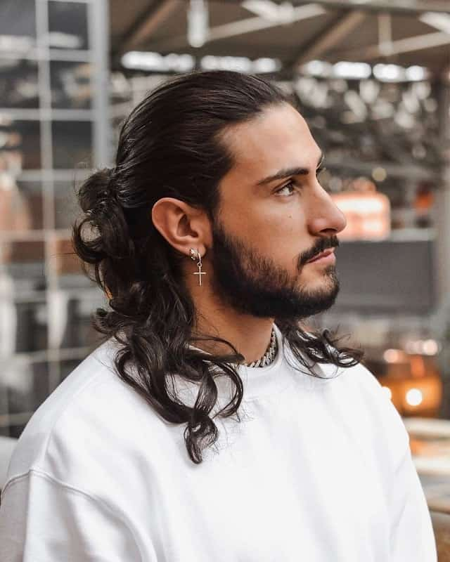 Long Thick Wavy Hair for Men