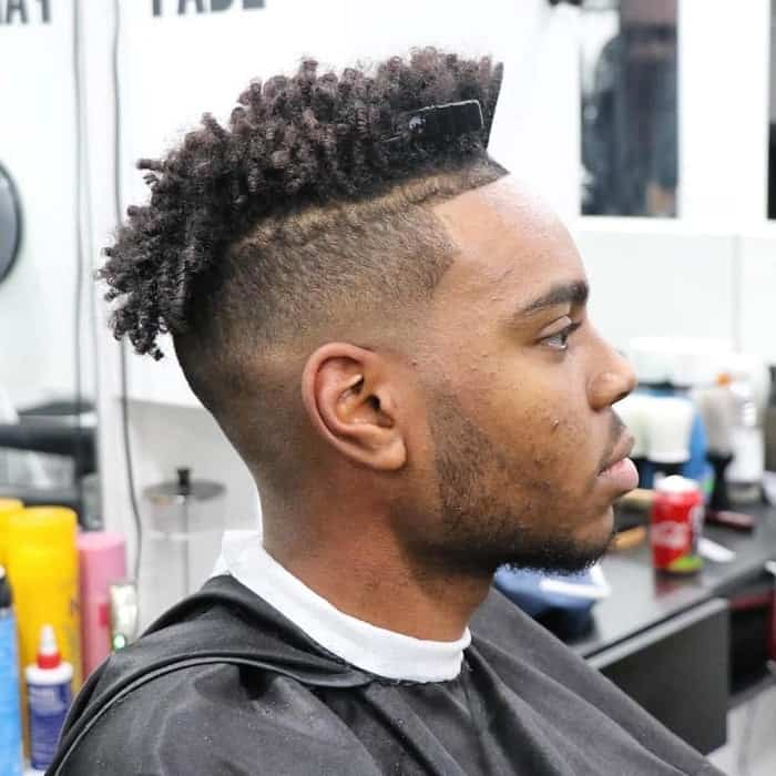 low skin fade for black men