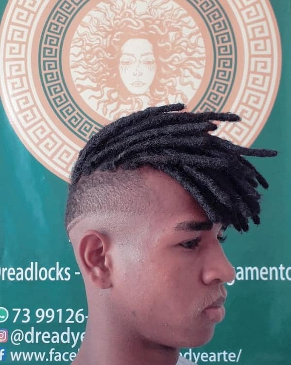 Short Dreads With Fade