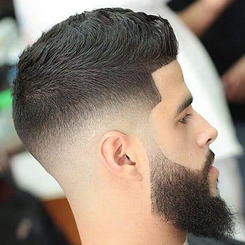 short fohawk with beard