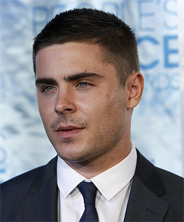 Photo of Zac Efron crew cut hairstyle.