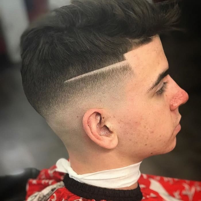 Bald Fade with A Line