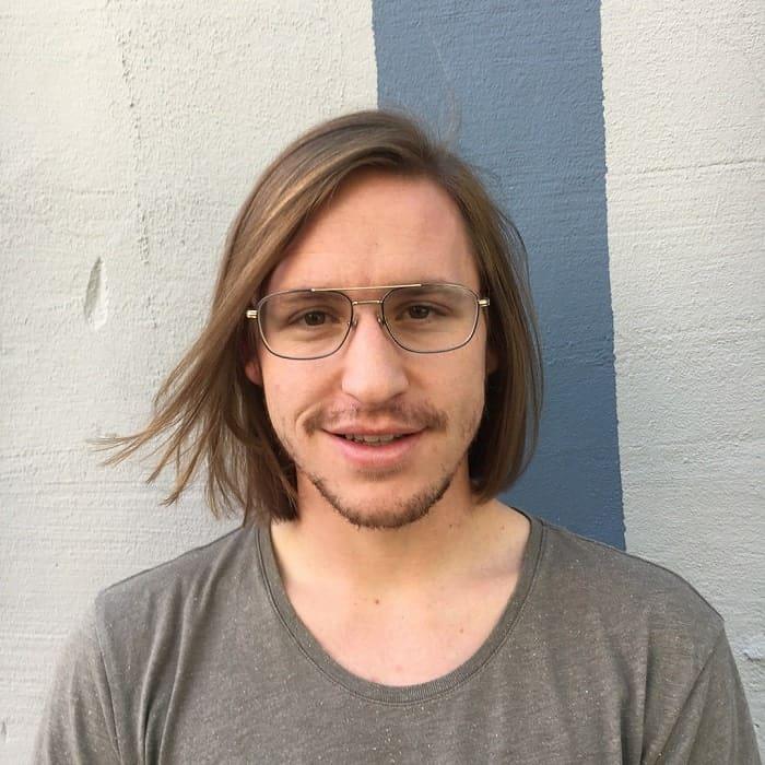 Medium Length Hair with Side Part