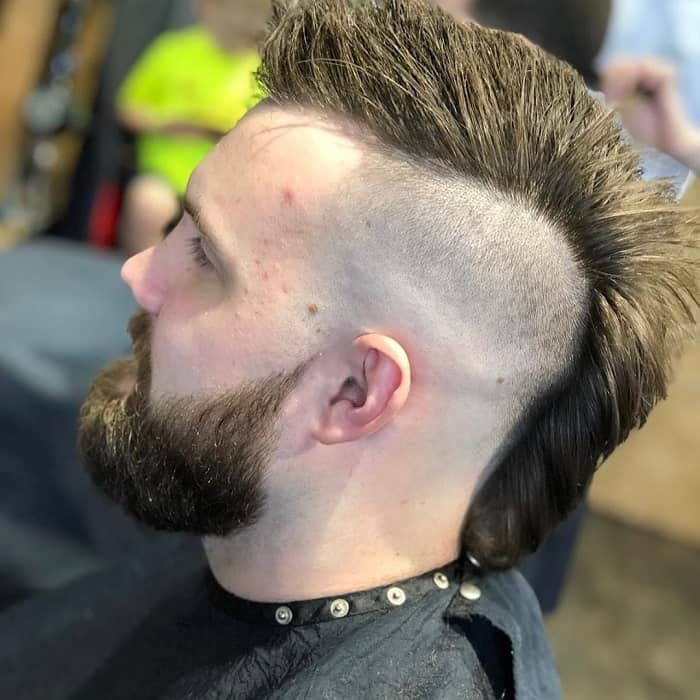 Faded Mohawk with Beard