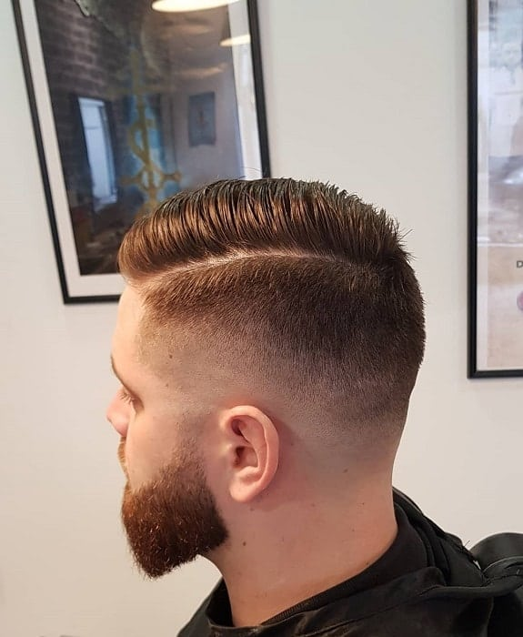Skin Fade with Side Part
