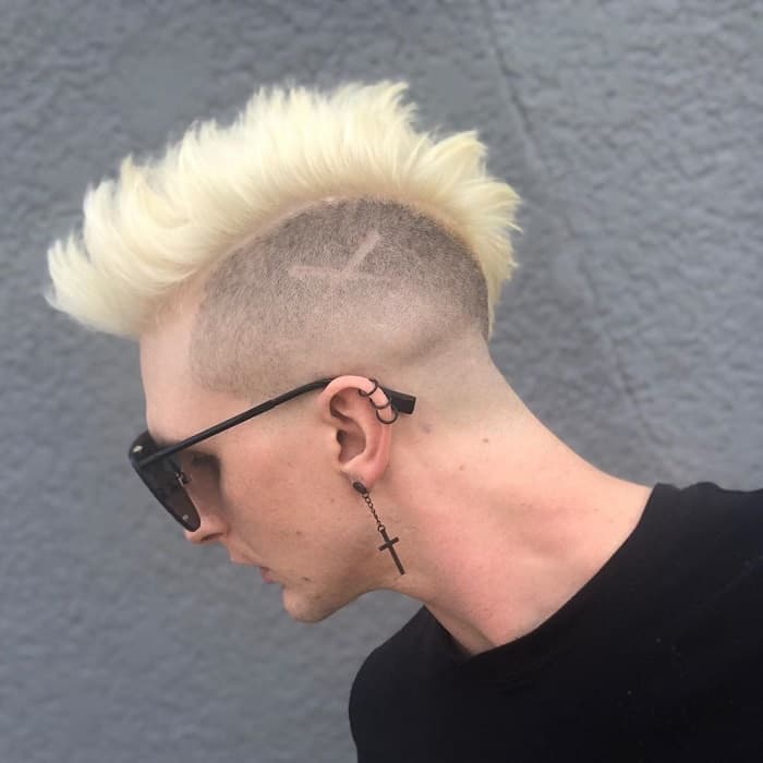 Caucasian Guy with Mohawk Fade