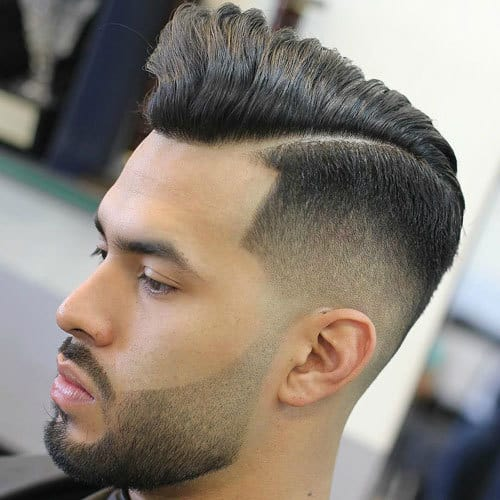 Hard Part on side with Taper Fade