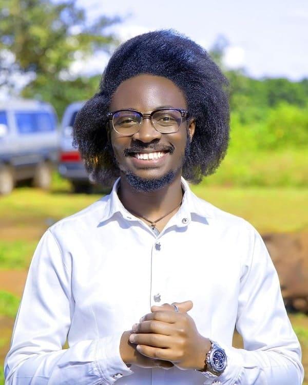Side Part Afro for Men