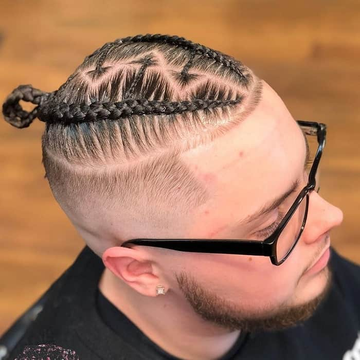 Fade on Braided Mohawk