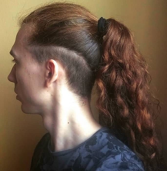 Man Ponytail with Undercut