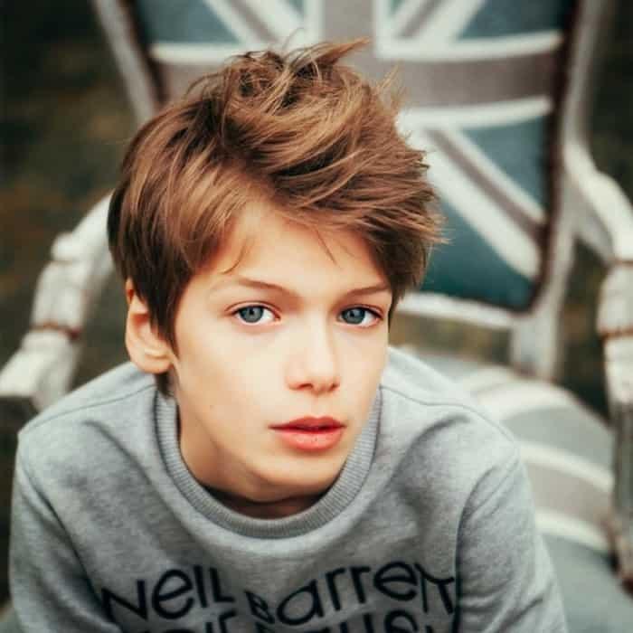 Messy haircut for boys