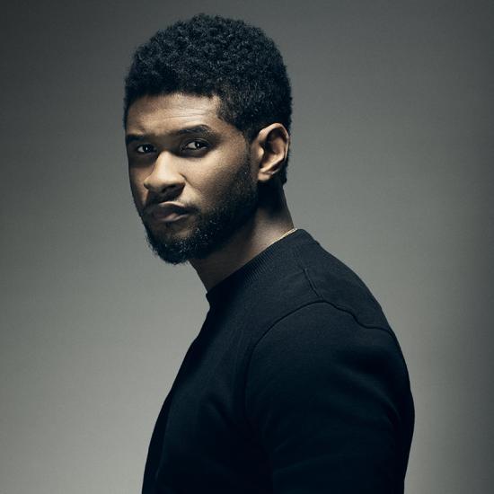 Usher Medium curly hairstyle