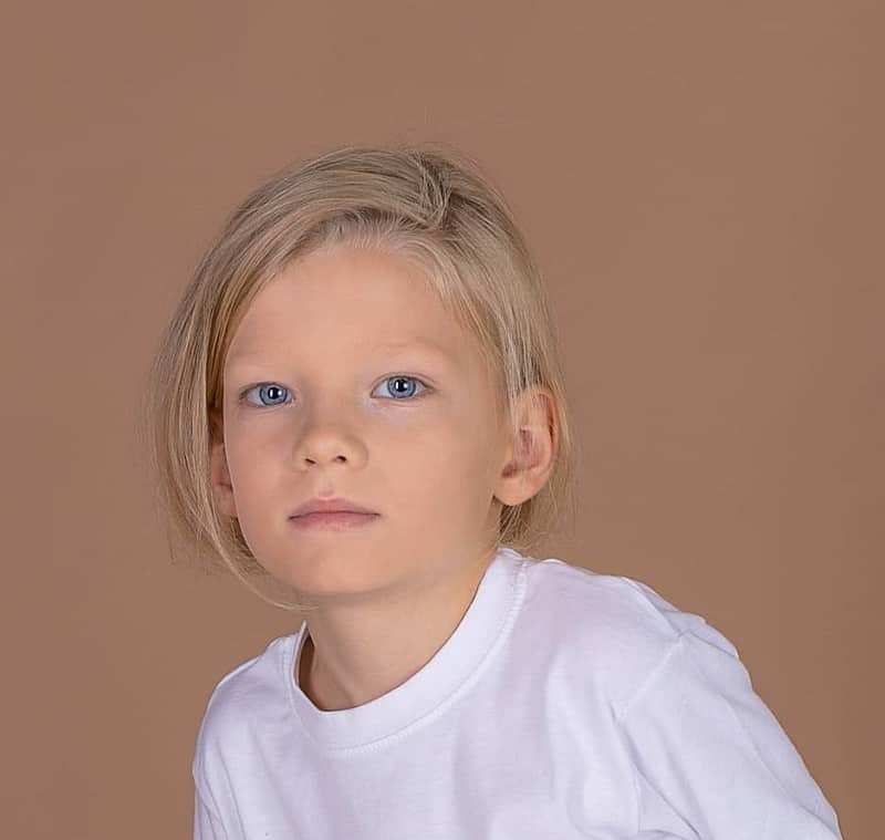 Boy with Blonde Hair and Blue Eyes