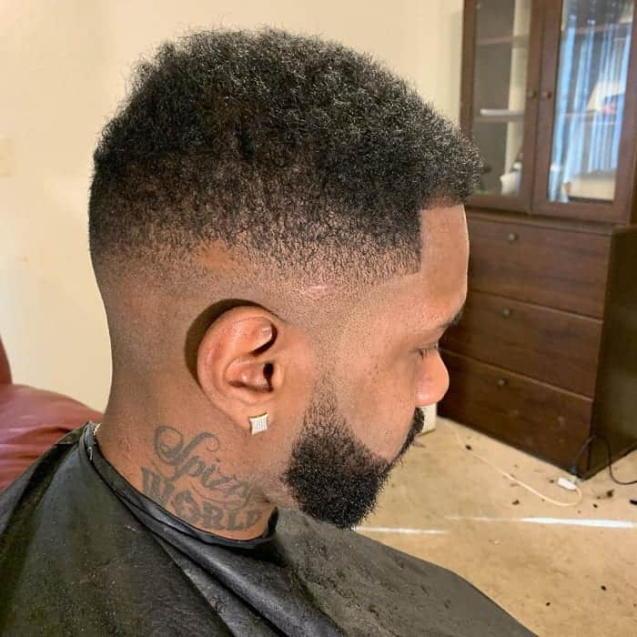 Mid Curly Taper Fade for Men
