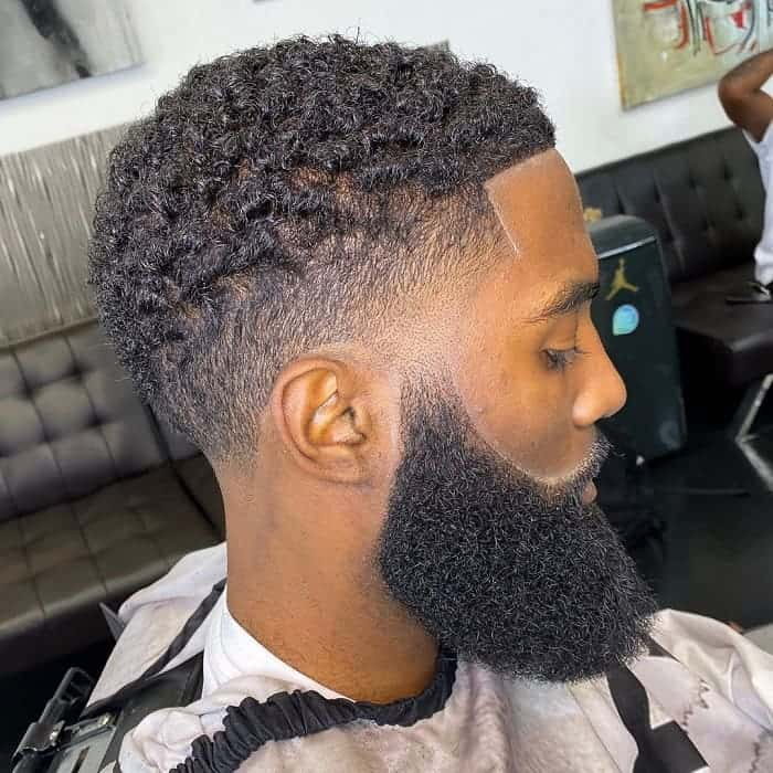 Fresh Haircut for Black Men