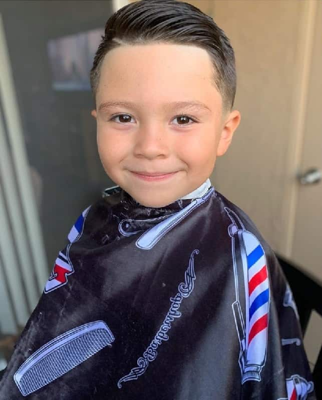 Comb Over Style for 4 Year Olds