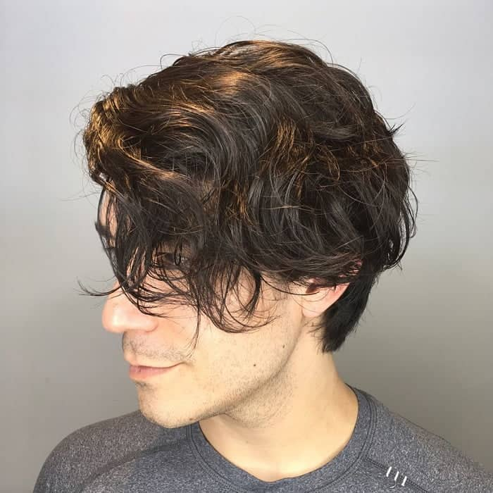 Wavy Short Messy Haircut For Guys