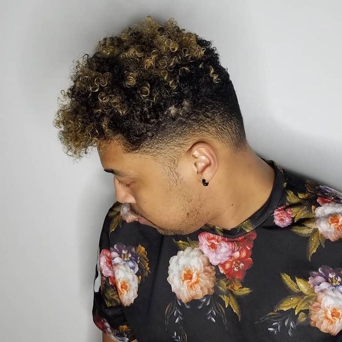 Men's Short Hair with Blonde Highlights