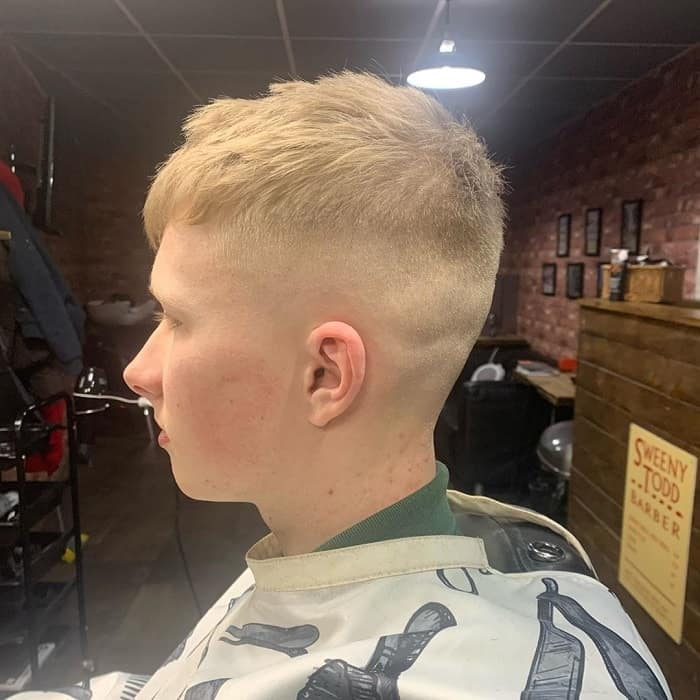 Boys haircut with shaved sides