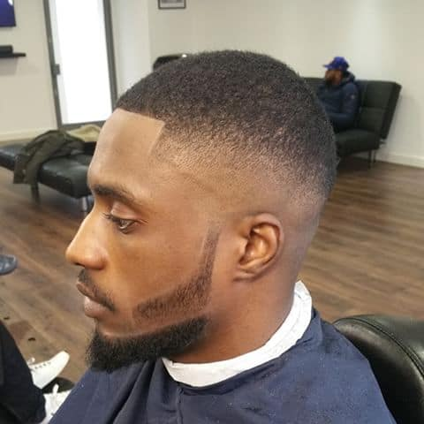 black men Sideburn hairstyle