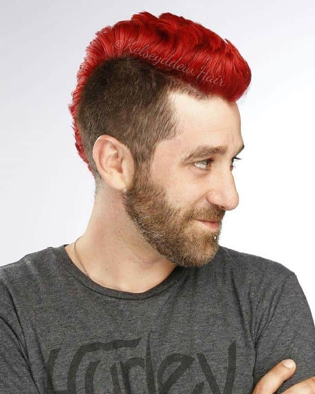 faux hawk color full hairstyle for boy
