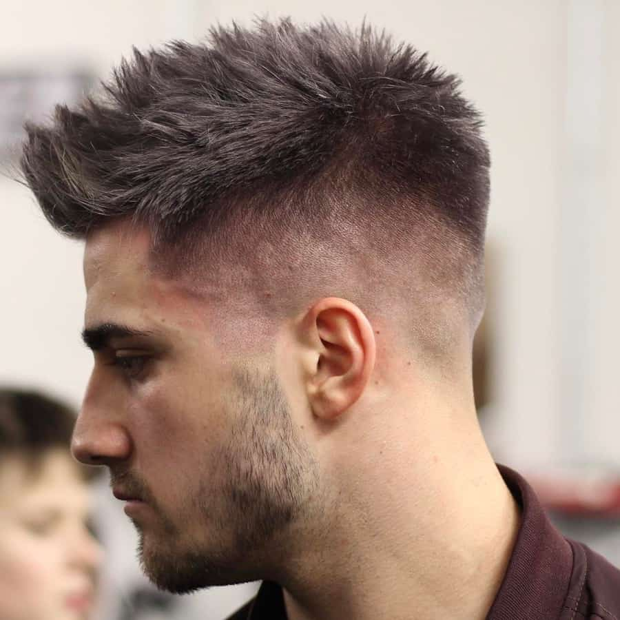 spiked short faux hawk hairstyle