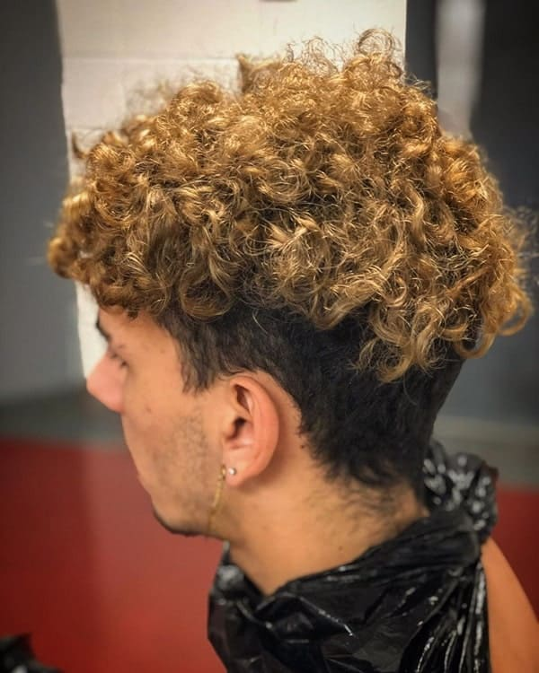 Fresh Curly Hairstyle for Men