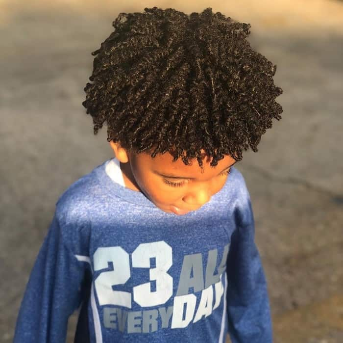 Curly Hair for Little Boys