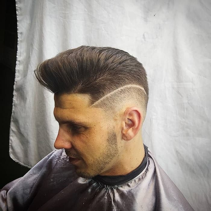 Pompadour With Burst Fade