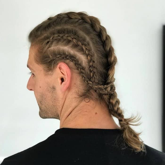 Dutch Braid For Men With Long Hair
