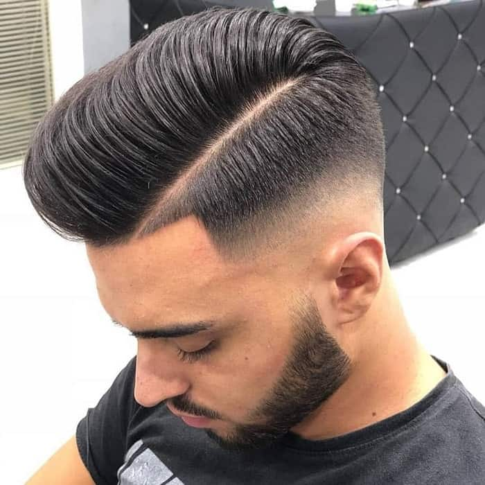 Mid Fade with Comb Over