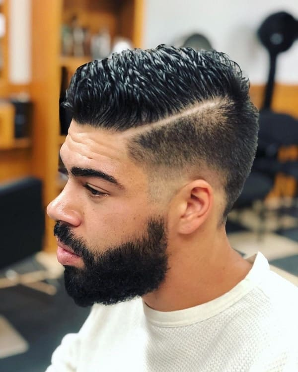 Taper Fade Cut with Part