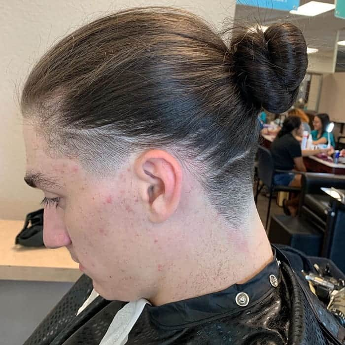 Man Bun with Taper Fade
