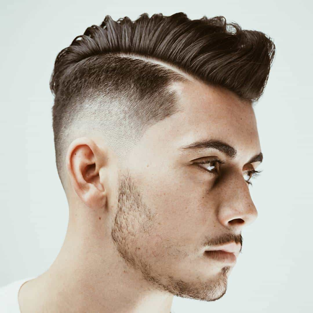 Men with Quiff hair for Round Face Shape
