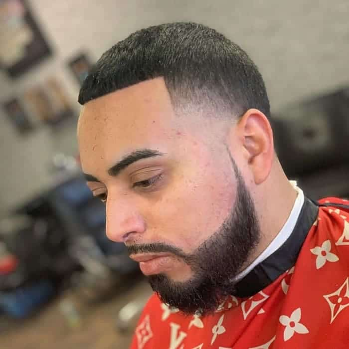 Temp Fade Haircut with Sharp Line Up