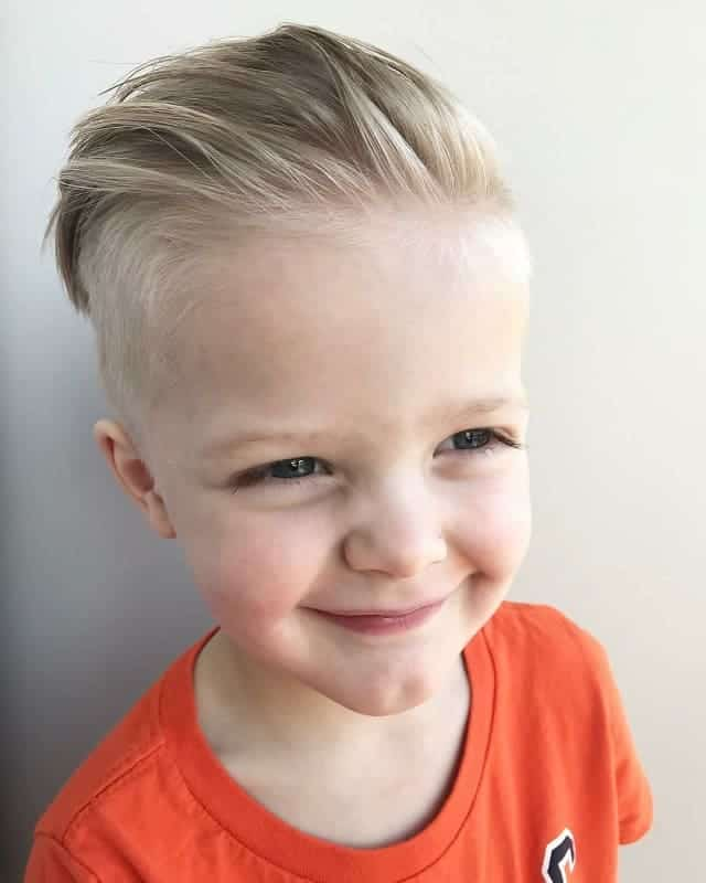 combed back hair for 5 year old boy