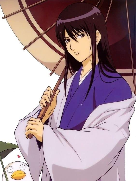 anime guy with long hair