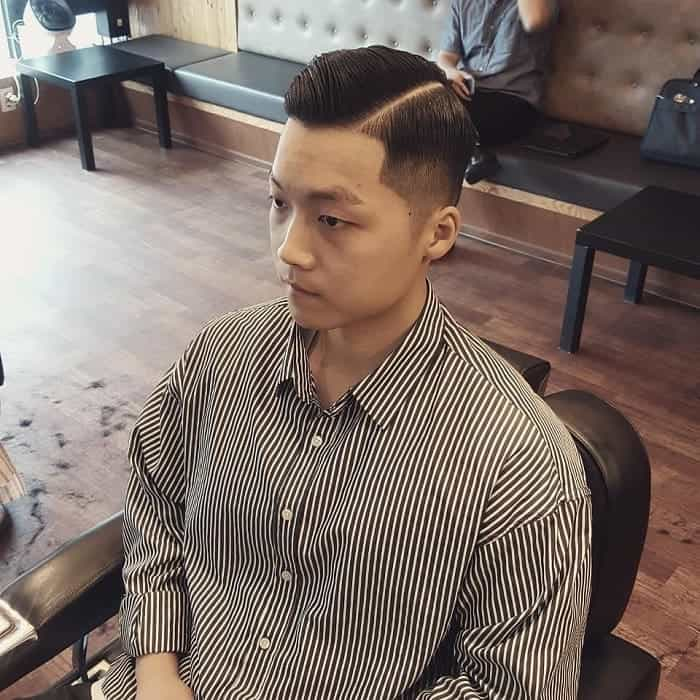 Asian Haircut with Side Part