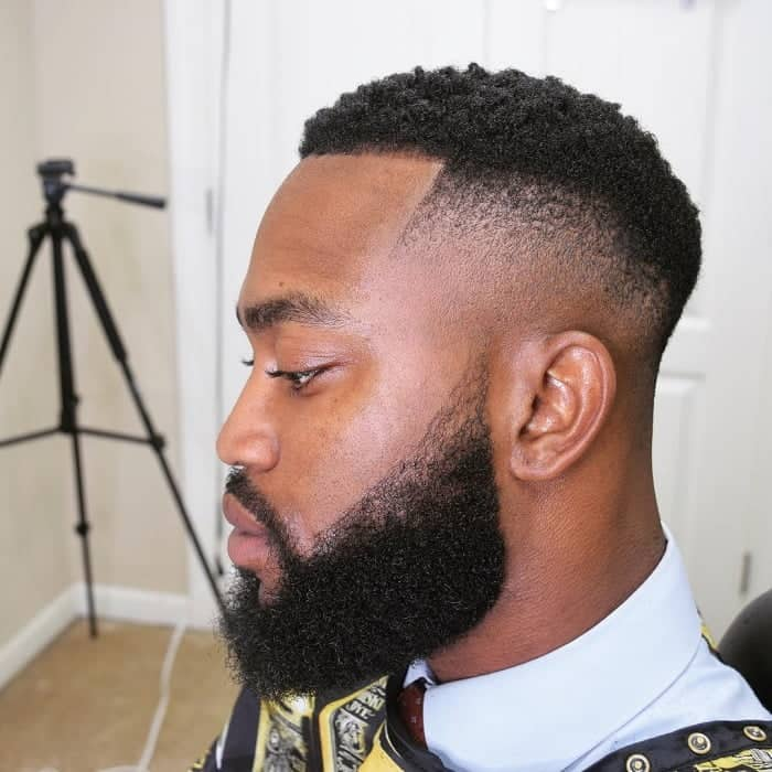 Fade for Bearded Black Man