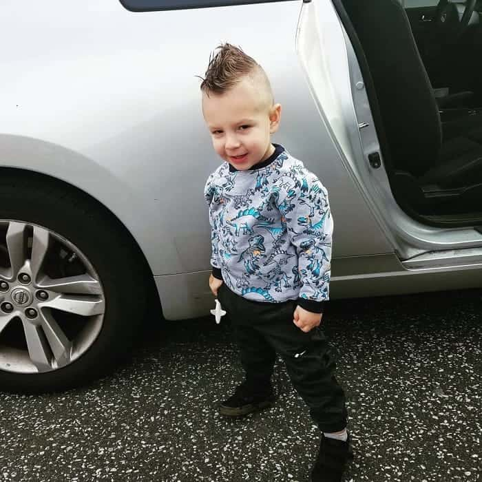 Short Mohawk Fade for Little Boys