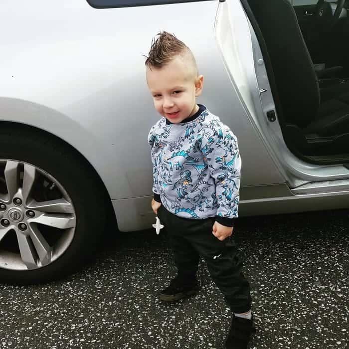 Short Mohawk Fade for Little Boys